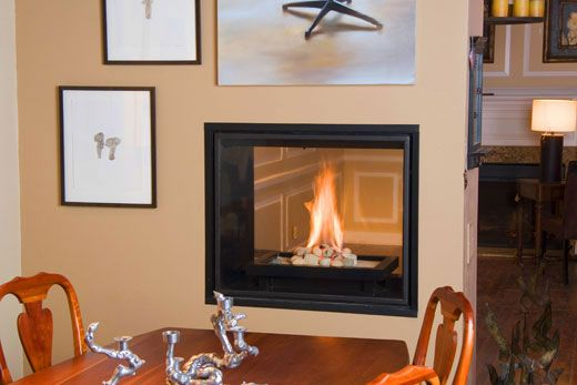 See-through T&C direct-vent fireplace as shown at Bromwell's in ...