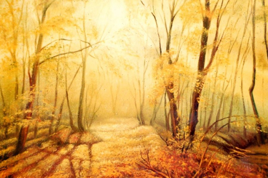 Осеннее утро: холст, масло, 60x80, 1995