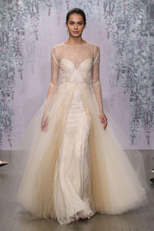 Suknie ślubne Monique Lhuillier Jesień Zima 20162017 Moda Elle