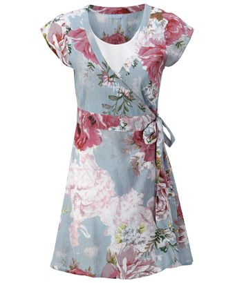 bc63bf337f4 Joe Browns Watercolour Wrap Tunic - a splash of summer garden prints ...