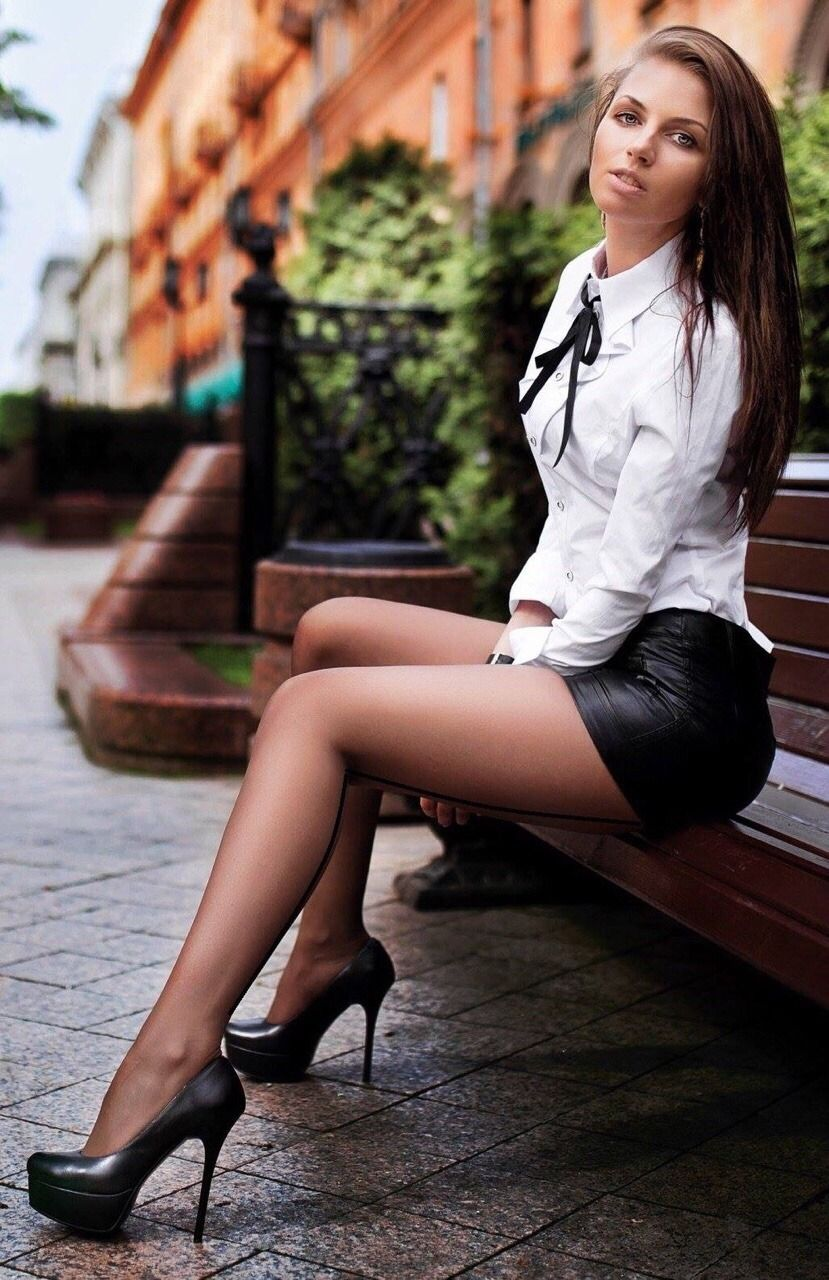 Beautiful women leather u hosiery pinterest woman legs and