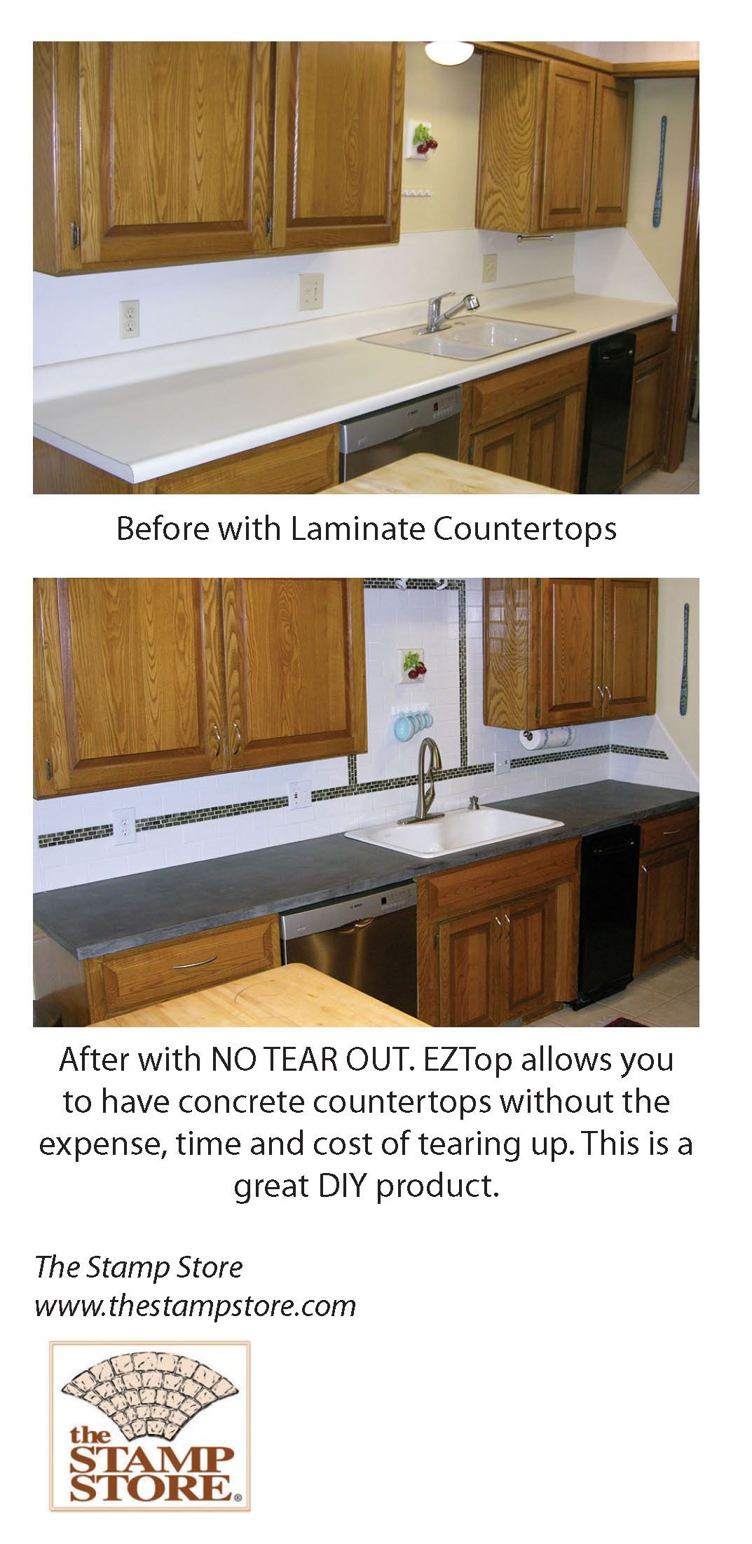 Ez Top A Great Diy Product That Can Go Over Laminate Tile And Granite No Tear Out Of Existi Cheap Kitchen Makeover Kitchen Inspirations Old Home Renovation