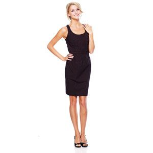 Juniors XOXO Pinstripe Sheath Tank Dress