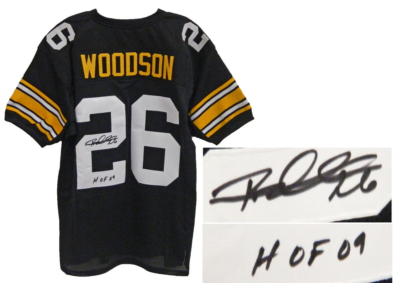 AAA Sports Memorabilia LLC - Rod Woodson Signed Black and Gold Custom Pittsburgh  Steelers Jersey w 7e2a032c9