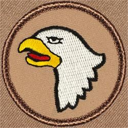 """2/"""" Round Sew-on Camel With Blanket Patrol Patch"""