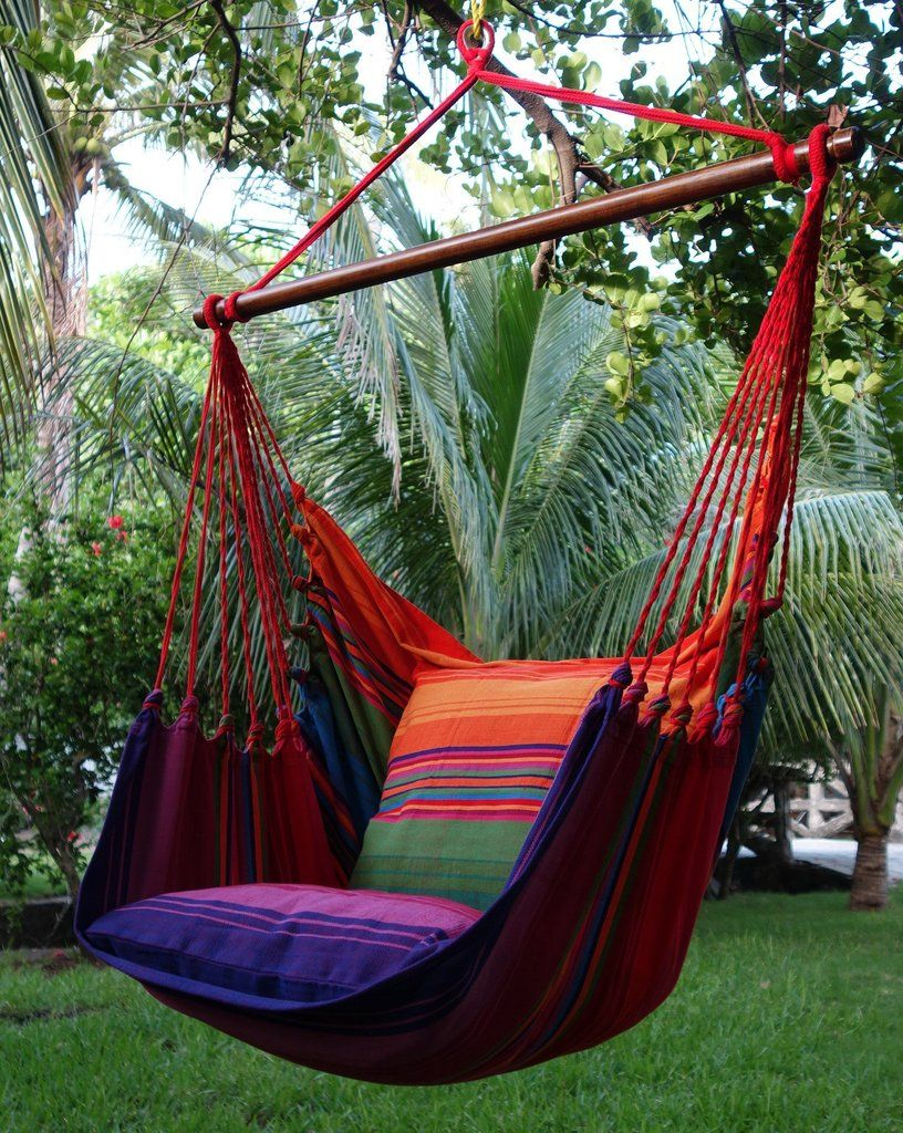 Hammock chair with cushions patio gardening pinterest