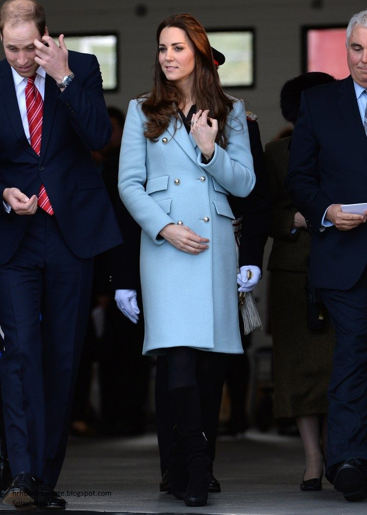 Duchess Kate: Following a relaxing break with Prince George on the Queen's Scottish estate, Balmoral, the couple made a welcome return to joint engagements with an away day in Wales. William and Kate shared their first home there, the the beautiful Isle of Anglesey, when William was working as a search and rescue pilot at RAF Valley and they both looked incredibly pleased to return today. 8 November 2014