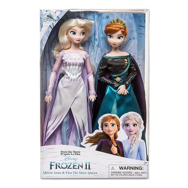 Disney Toys Frozen 2 Elsa and Anna Princess Doll Toys with Accessories Olfa Sets Girl's Collection Dolls Kids Gifts with Box - dool 001