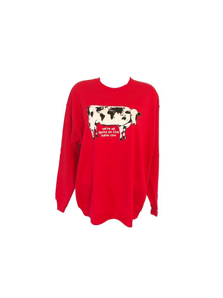 World Cow Cozy World Cow Cow Cozy Graphic Sweatshirt