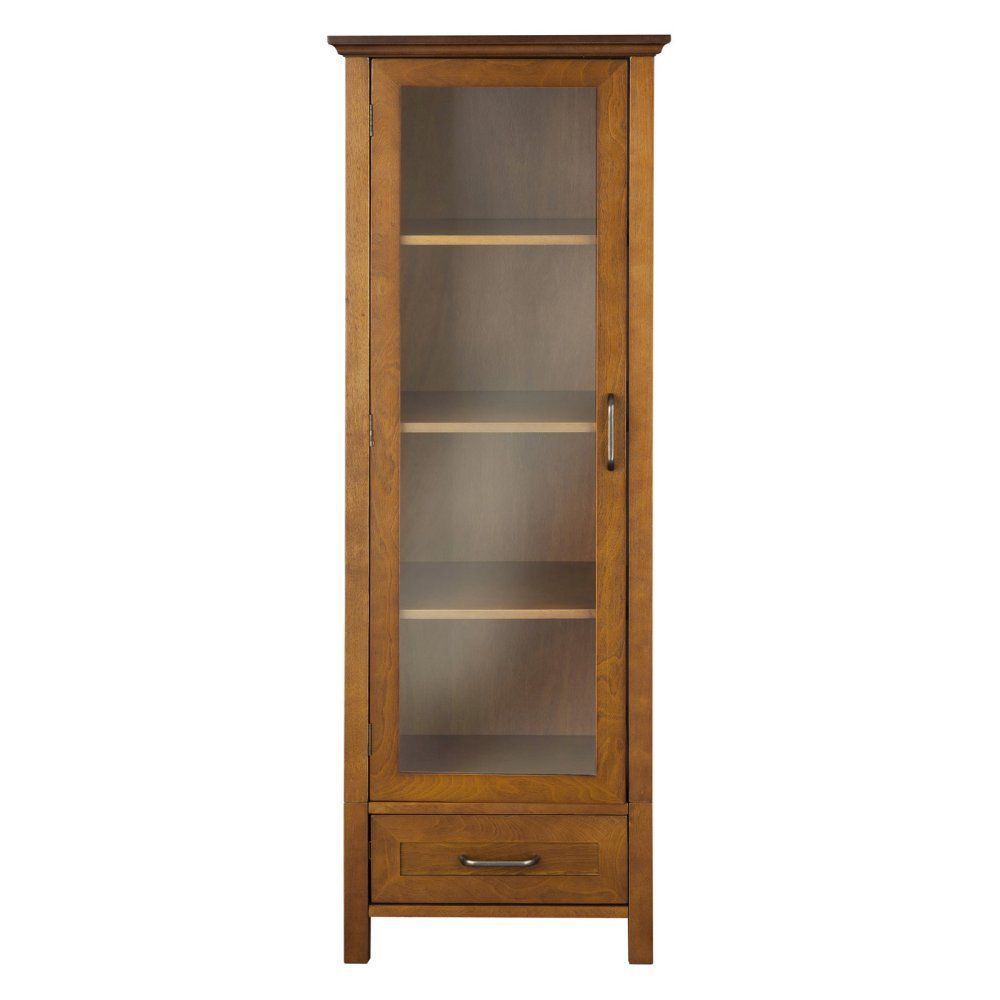 Elegant Home Avery 1 Door Linen Cabinet With Bottom Drawer