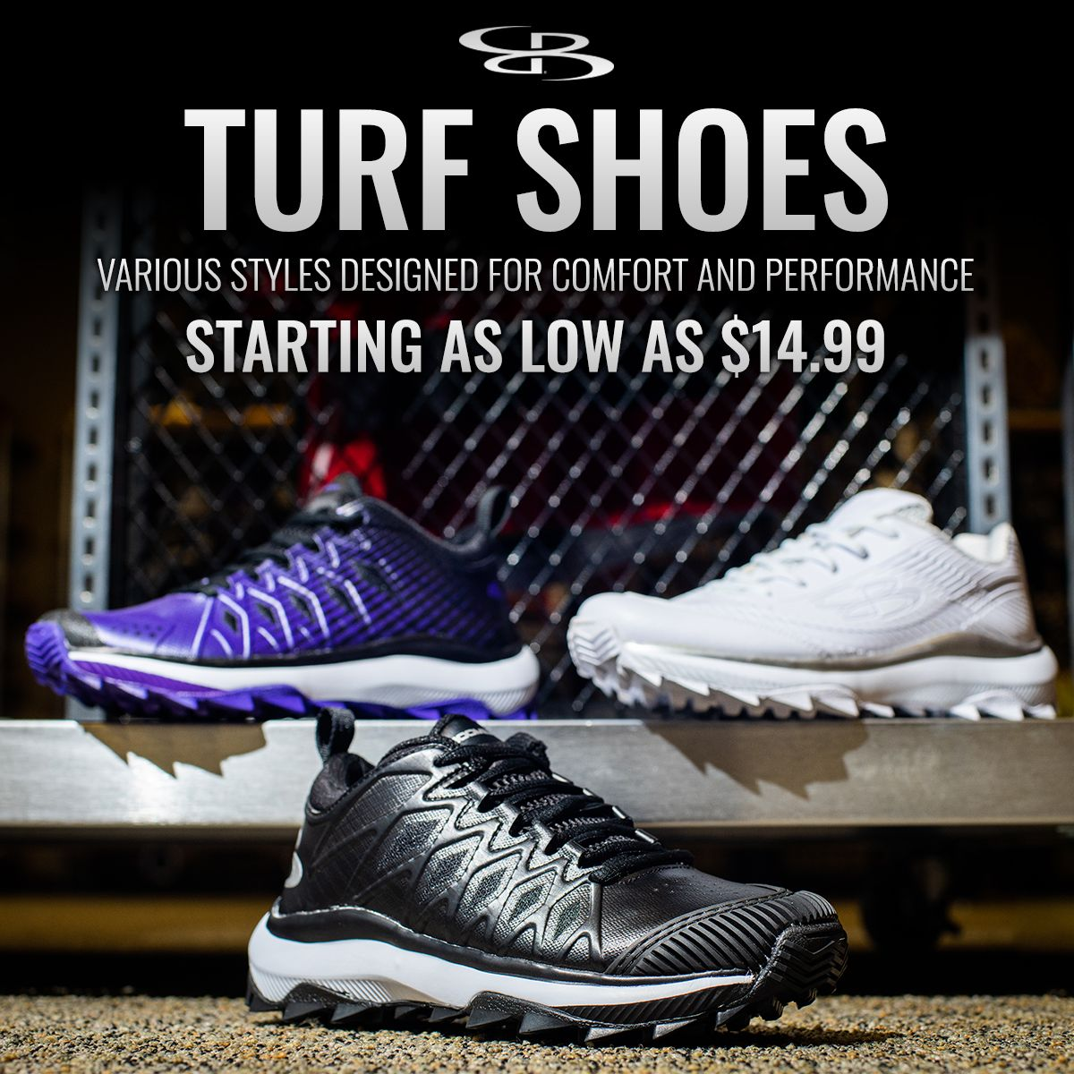 Turf shoes designed for comfort and