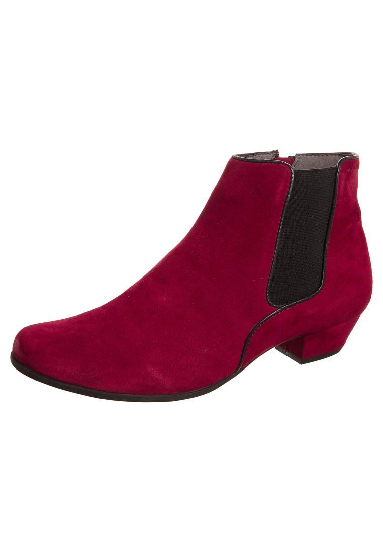 Marc - CARA 2 - burgundy / red shoe boots with a midi-heel