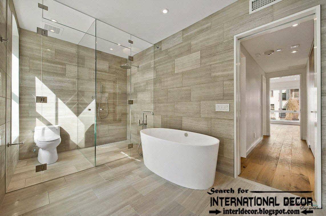 Calm Modern Bathroom Seafoam Green Tile Marble Wood Black Fixtures Steinfliesen Wand