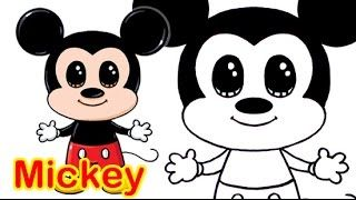 Draw So Cute Youtube Mickey Mouse Drawings Disney Drawings