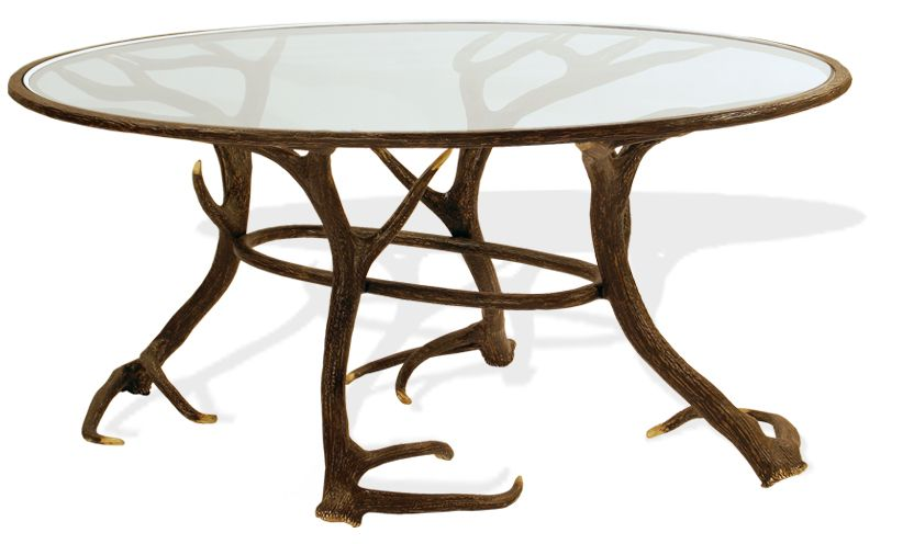Antler Round Table The 50 Inch Hand Cast Aluminum Elk Outdoor