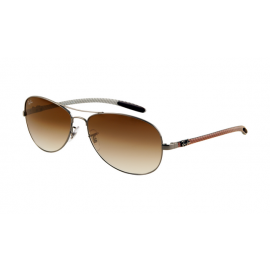 9e2f965ed0 Ray Ban RB8301 Tech Gunmetal Frame Brown Mirror Sunglasses