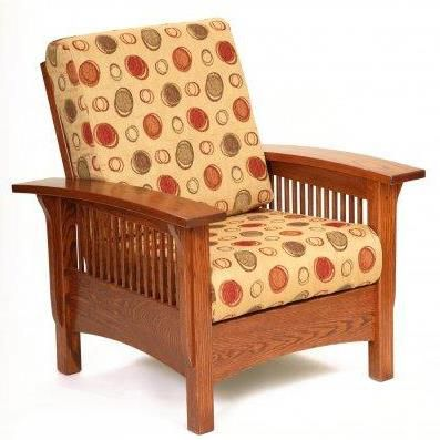 Charmant Amish Mission Morris Lounge Chair With Adjustable Back