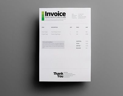 Feel free to simplify your work using this ready made simple - free invoice design