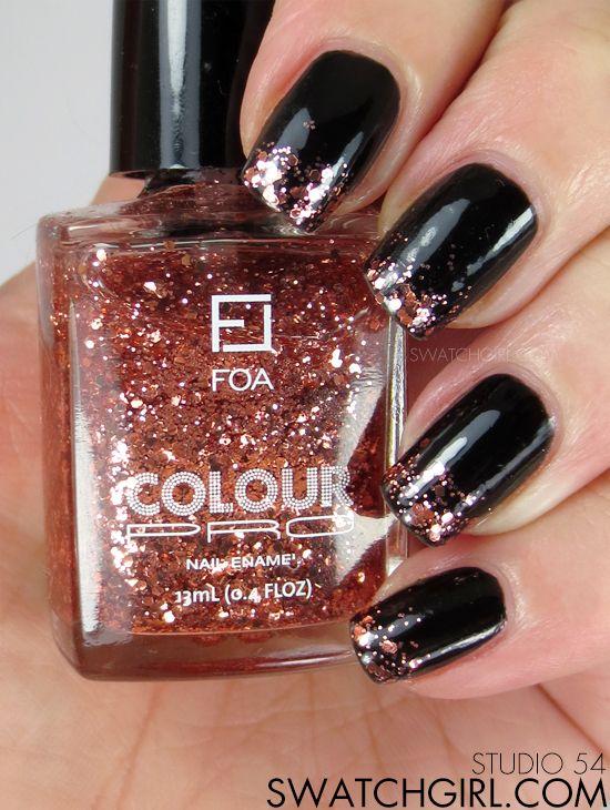 swatchgirl.com: Face of Australia Studio 54 #glitter #manicure