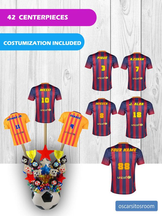 8521bd0016d 42 FC Barcelona T-Shirts Centerpieces download #birthday #birthdayparty  #birthdaypartydecoration #barcelona #soccer #messi #soccerparty  #soccerbirthday ...