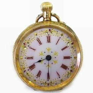 superb 14ct gold antique pocket clocks watches