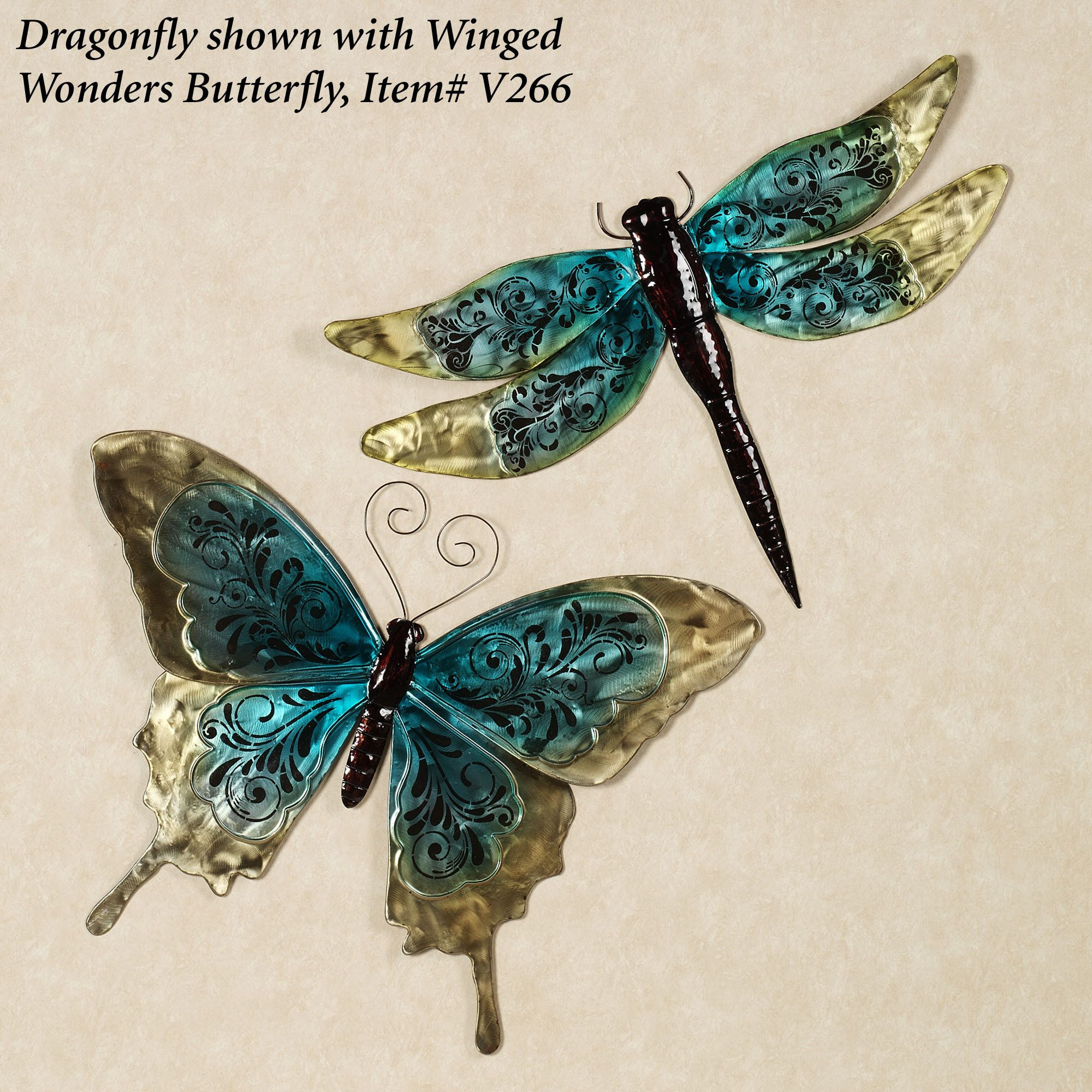 Winged Wonders Dragonfly Metal Wall Accent For The Home