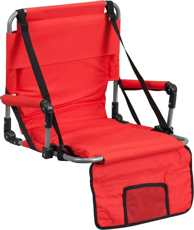 Flash Furniture TY2710 RED GG Folding Stadium Chair In Red