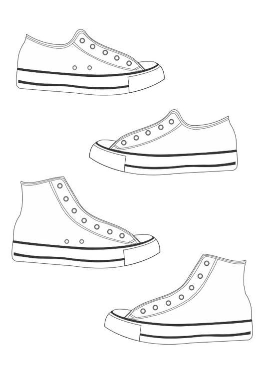 Coloring Page Shoes Img 26360 Shoe Template Pete The Cat Shoes Cat Shoes