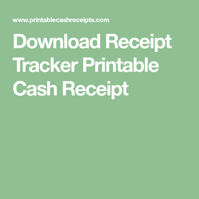 Download Receipt Tracker Printable Cash Receipt Printables Cash Receipts