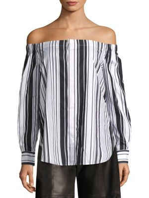 663c64b56bdbeb POLO RALPH LAUREN Striped Off-The-Shoulder Shirt.  poloralphlauren  cloth   shirt