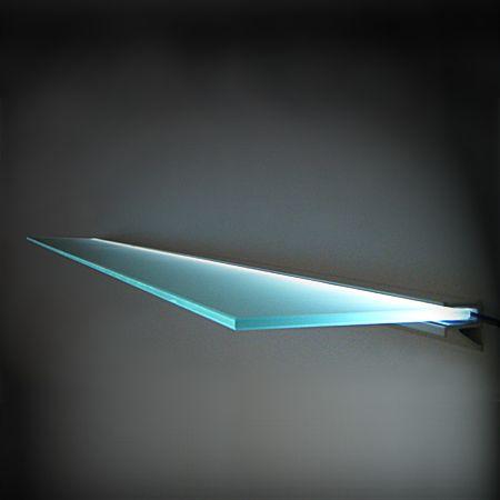 glass 39 light 39 shelf 15x30cm with lighting bracket. Black Bedroom Furniture Sets. Home Design Ideas