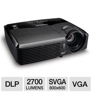 Viewsonic Pjd5123 Svga 3d Ready Dlp Projector 2700 Ansi Lumens 800 X 600 4 3 3000 1 120hz Vga S Video 3 5mm Best Projector Projector Digital Projector