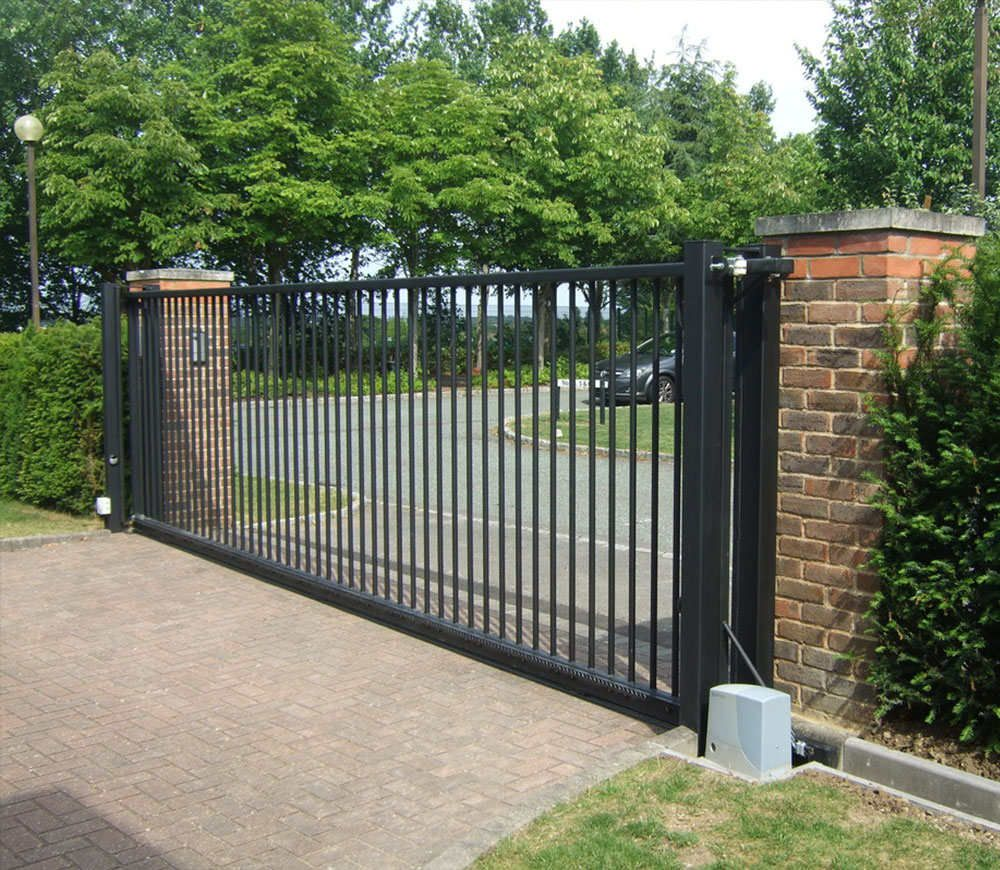 Tips You Should Know Before Buying A Gate Opener Material Quality Before Deciding To Buy A Gate Opener It Is Electric Sliding Gates Driveway Gate Estate Gates
