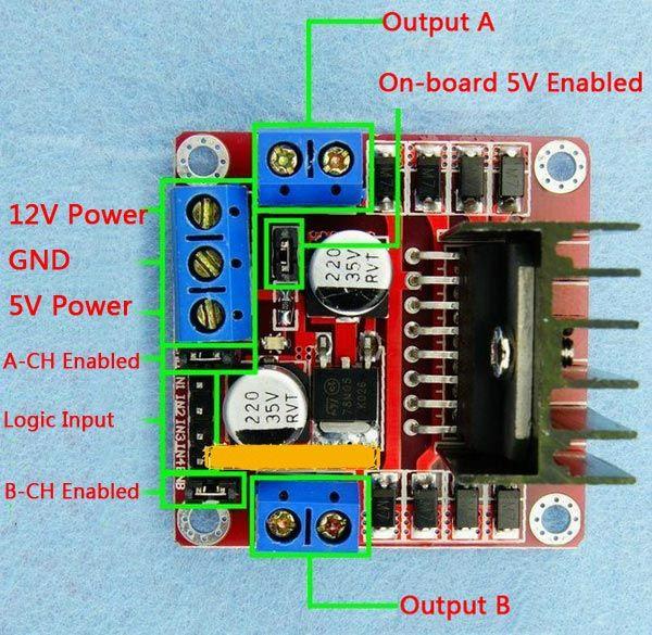 5pcs L298n Dual H Bridge Dc Stepper Motor Driver Module Controller