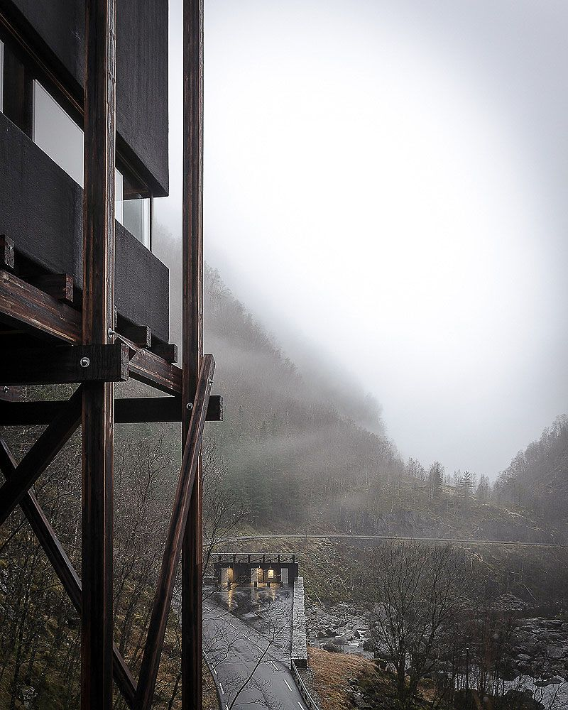 Peter Zumthor, Zinc Mine Museum View over valley Peter