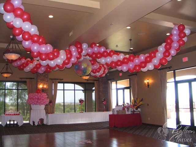 Balloon ceiling decor google search disney 1st bday for Balloon decoration for ceiling