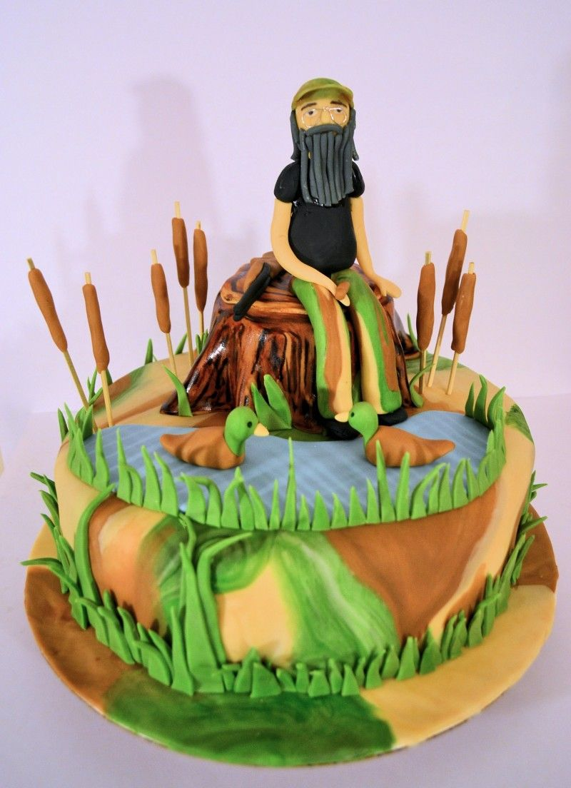 Duck Dynasty Birthday Cake With Si Fondant Topper Jacksonville FL Decorator Cakebroker Get Original Custom Designs Prices