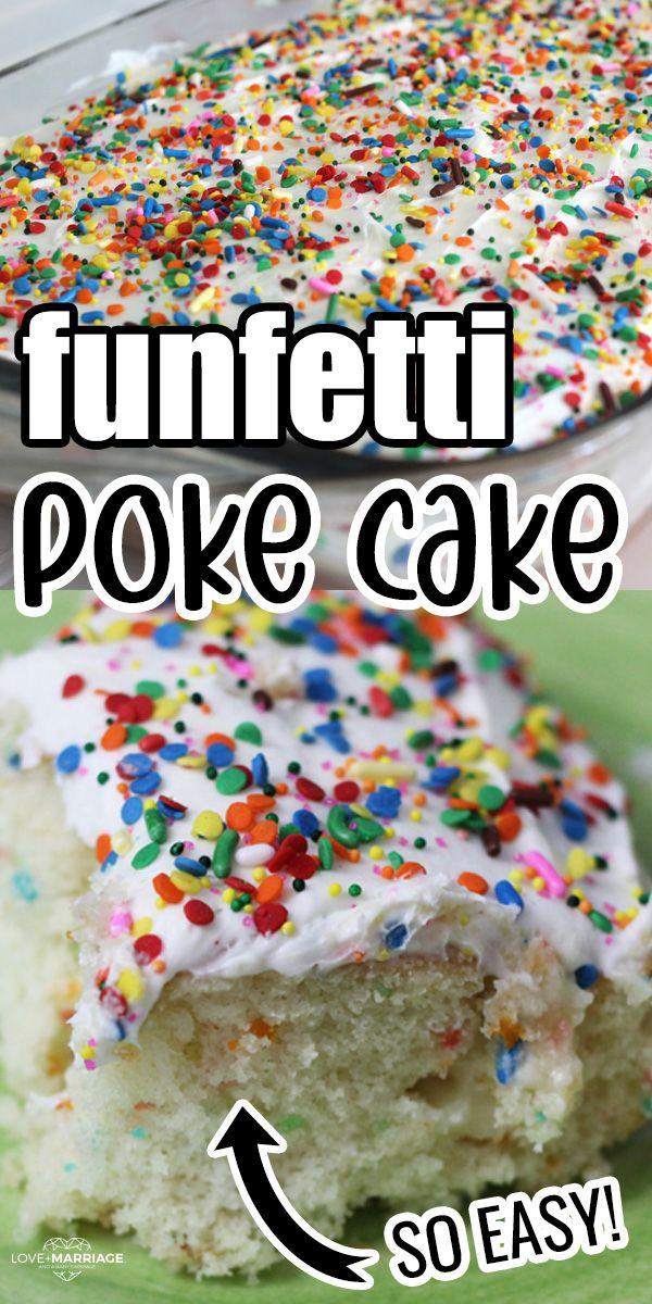 Confetti Poke Cake