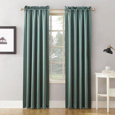 Sun Zero Kylee Energy Efficient Rod Pocket Curtain Panel Rod