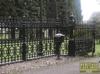 Custom Iron Gates Windsor With Images Custom Iron Gates Gates And Railings Gate Post