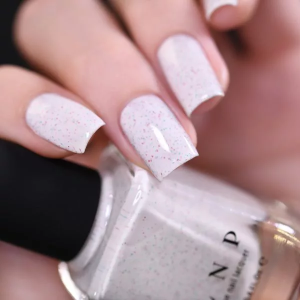 Christmas Cookie - Creamy White Speckled Nail Polish by ILNP