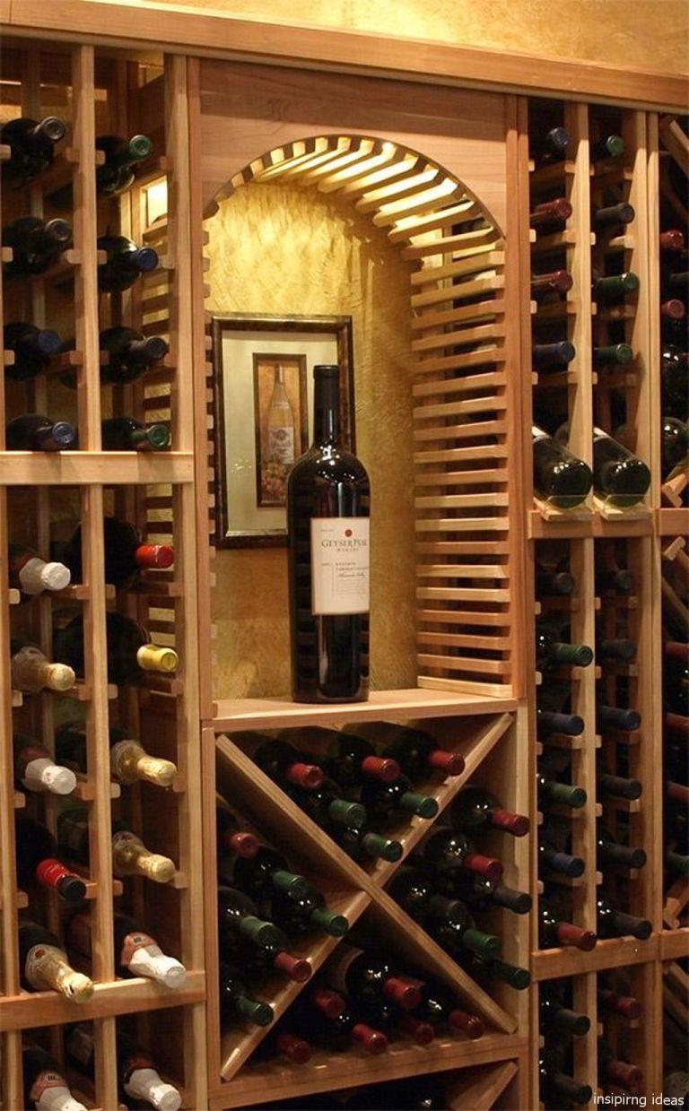 diy wine cellar wall