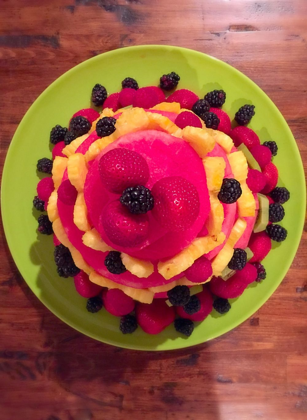A sweet surprise watermelon fruit cake fruit cake