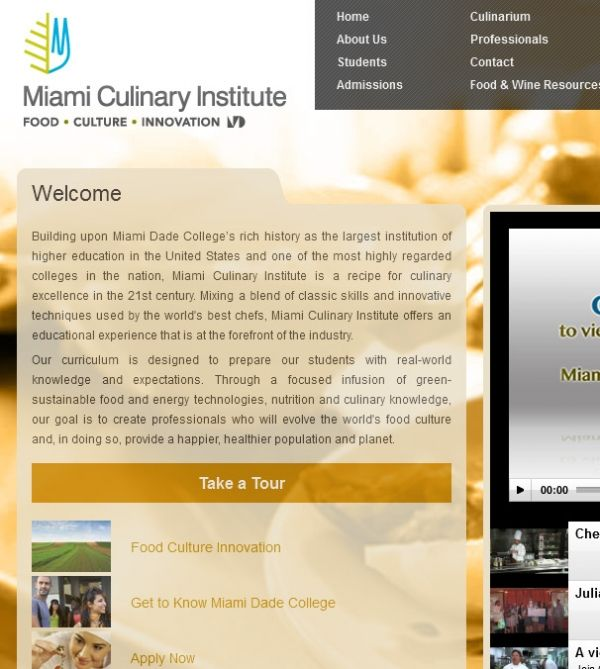 Miami Culinary Institute 415 Ne 2nd Ave Miami Fl 33132 Downtown Colleges Universities Colleges And Universities Higher Education Miami Dade College