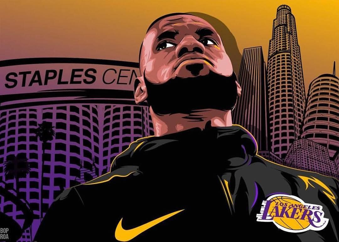 First Home Game Tonight How Many Points Do You Think Lebron Will Score Follow Lebron For More Lebron James Lebron James Lakers Lebron James Art