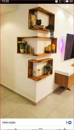 Photo of Bookcase Bookshelf Wooden Decorative Design Special Process Triple Rope Shelf Bookcase, Home Decor, Wall Decor, Bookcase, Wood Bookcase