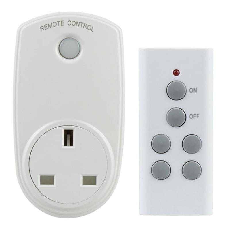 UK Plug Wireless Socket Indoor Wall Power Outlet With 433MHz RF ...