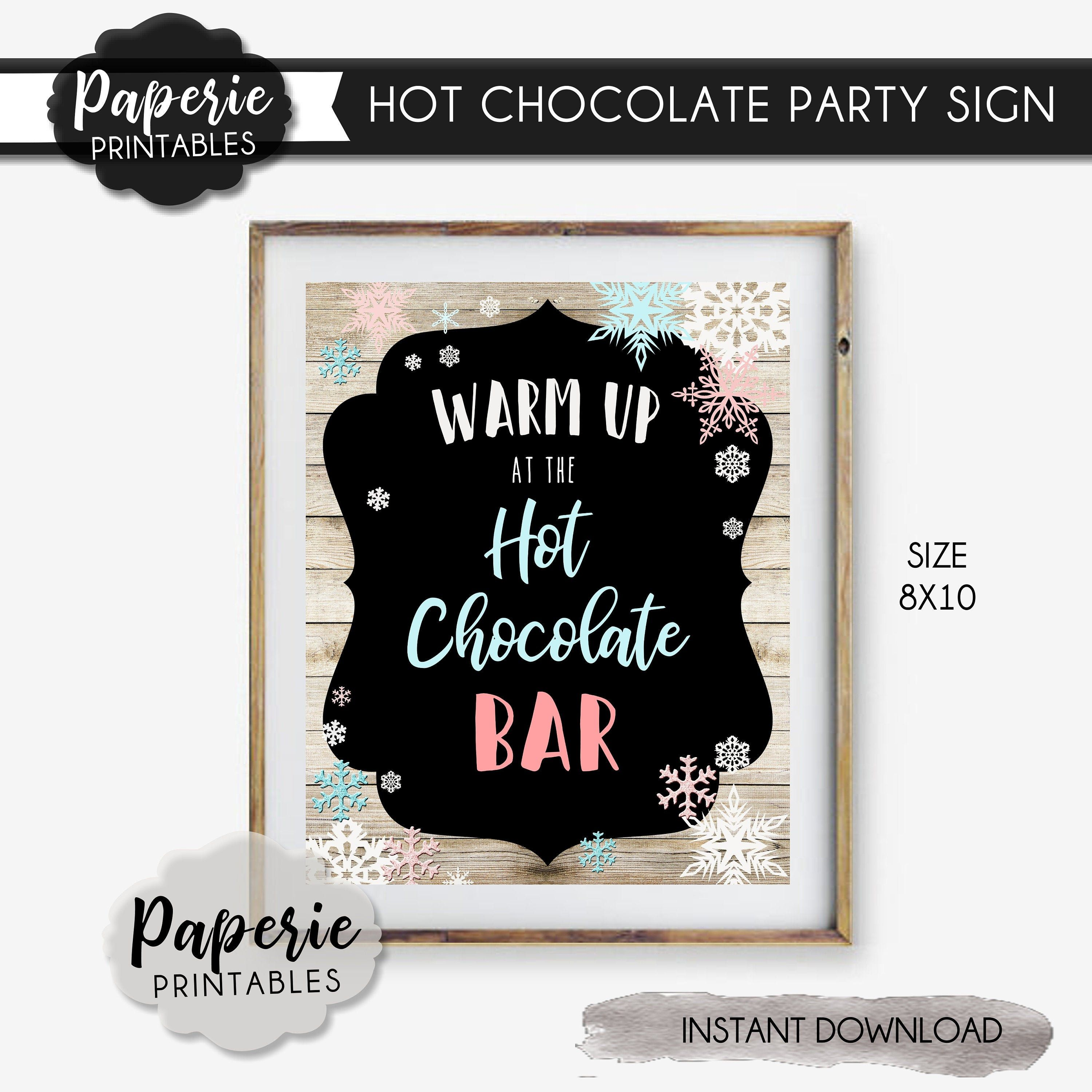Hot Chocolate Bar Sign - 8x10 - Warm Up at the Hot Chocolate Bar - Winter ONEderland Party Sign - Winter Wonderland - INSTANT DOWNLOAD-#BP25 #hotchocolatebar