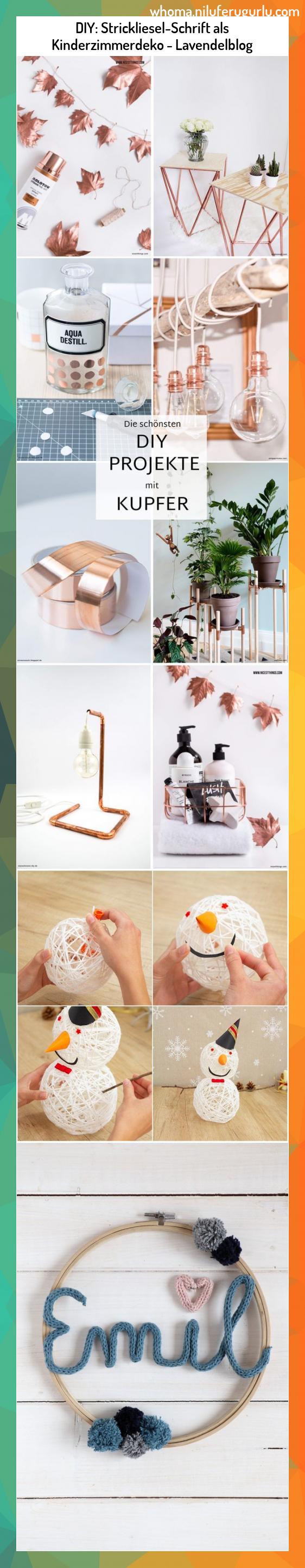 DIY: Strickliesel-Schrift als Kinderzimmerdeko – Lavendelblog #DIY: #Strickliese…