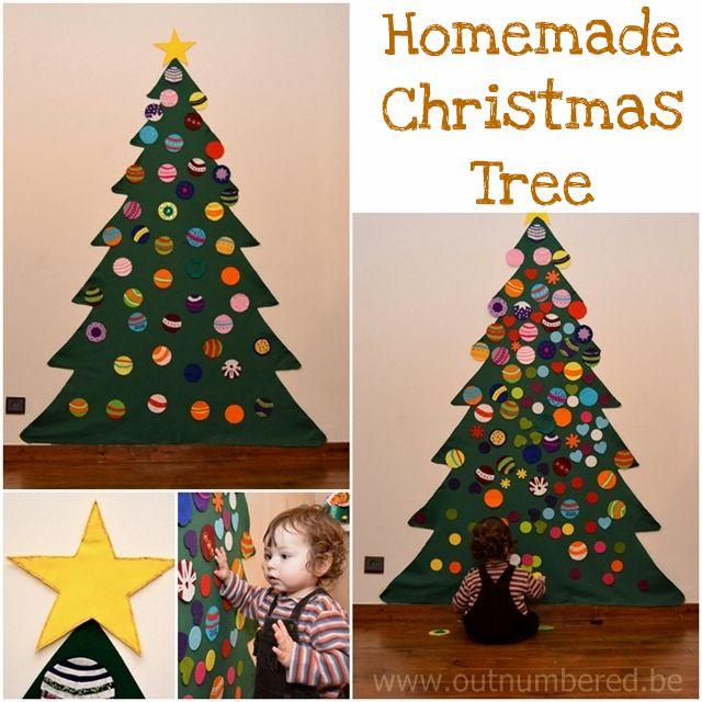 Homemade kid friendly felt Christmas Tree. So easy to do! | Kids ...